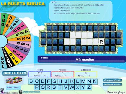 Juegos Biblicos La Ruleta De La Fortuna Biblica