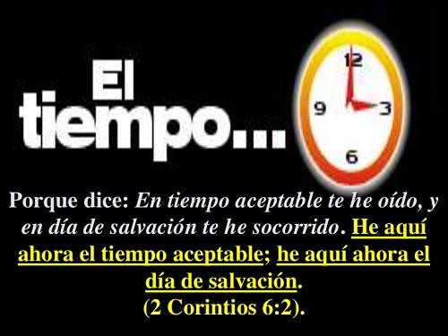 el tiempo aceptable