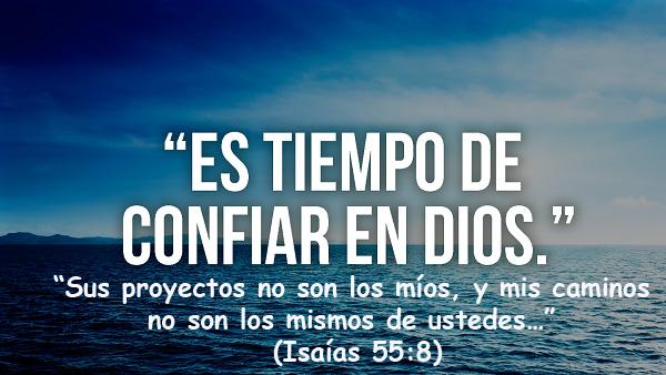 Confiar en Dios significa tener fe